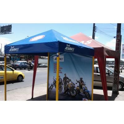 Kioscos publicitarios, desarmables y plegables